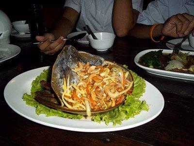 Horse Shoe Crab Salad