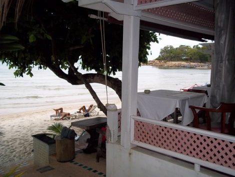 Beach front restaurant at Sans Souci