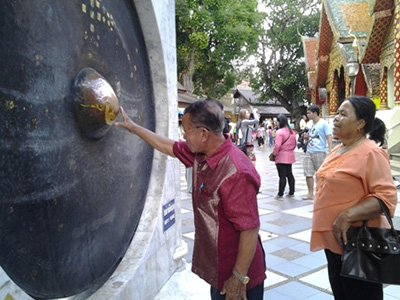Large gong at Wat Doi Suthep