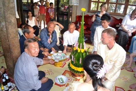 In Thailand it is traditional for the groom to pay a dowry to the bride's family