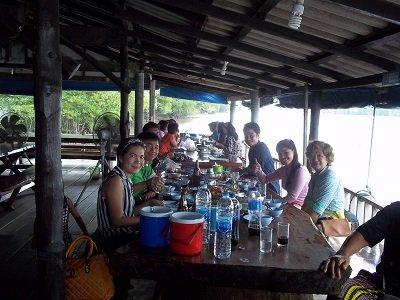 Family meal at Farm Poo Nim