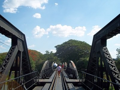 Walking on the Bridge over the River Kwai