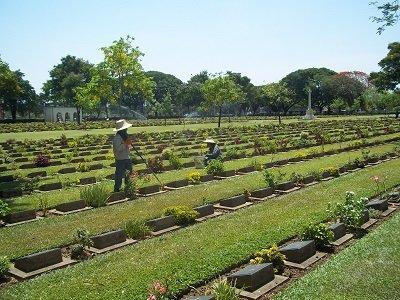 Gardeners at Chung Kai war cemetary