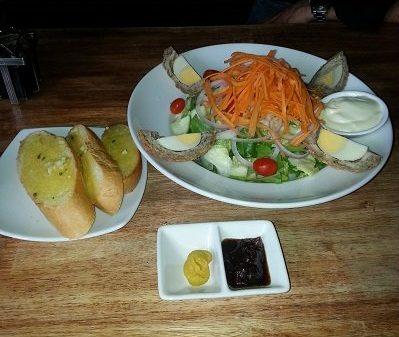 Scotch egg salad at the Masons Arms