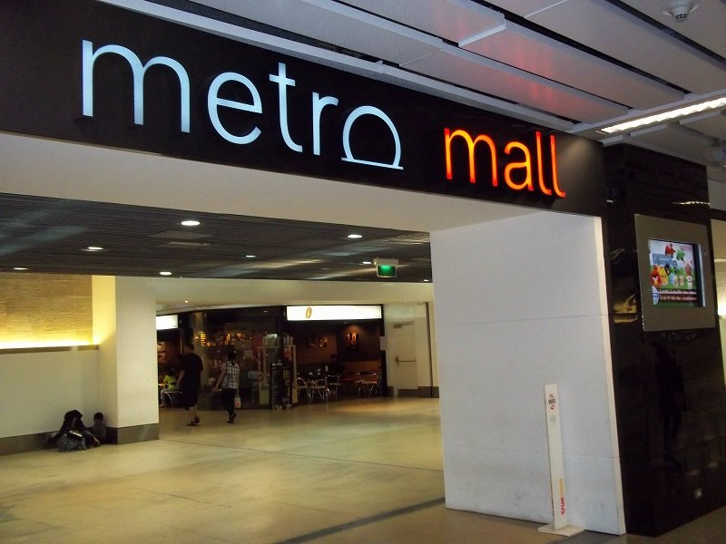 Entrance to Metro Mall