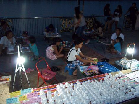 Children's activities at Nong Khai Saturday Night Market