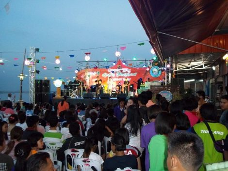 Stage at the Nong Khai Saturday Night Market
