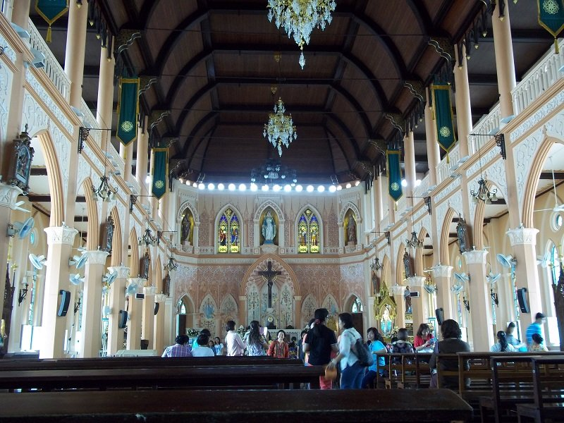 Ornate interior of Chanthaburi Cathedral