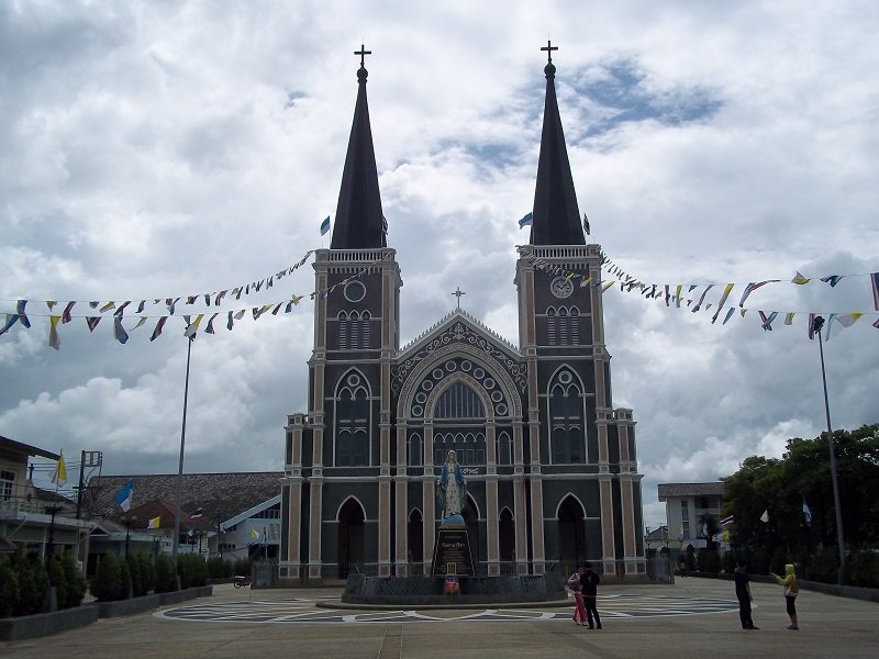 Gothic style exterior of Chanthaburi Cathedral