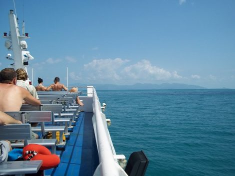 Sundeck of the Lomprayah Ferry