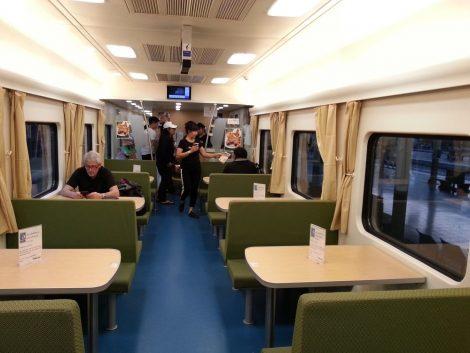 Restaurant Car in Train #26 from Khon Kaen to Bangkok