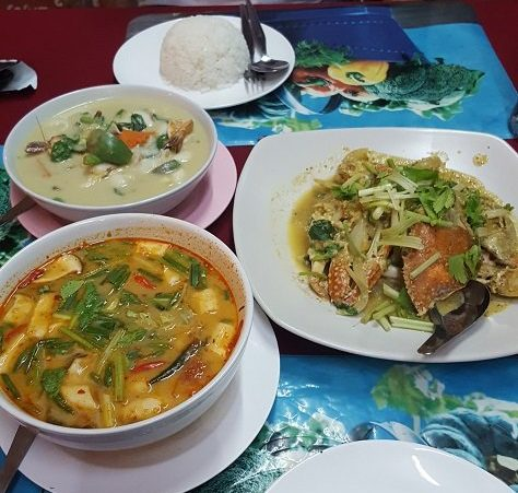 Food at Krua Savoiey, Nathon in Koh Samui