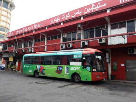 Local bus services depart from Kota Bharu Central Bus Station