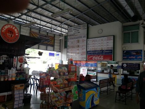 Ticket counter at Hat Yai Bus Station