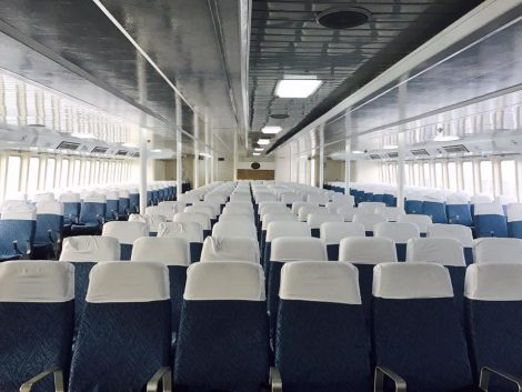 Standard seats on the Pattaya to Hua Hin ferry