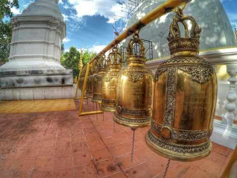 Wat Phra Singh temple in Chiang Mai Old Town