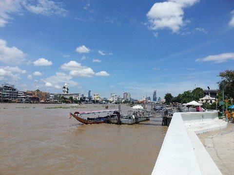 Chao Phraya River in Central Bangkok