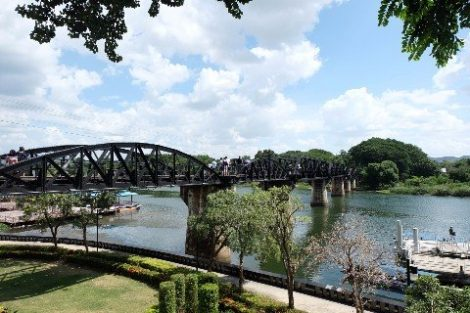 Bridge over the River Kwai at Kanchanaburi