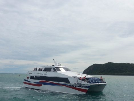 The Lomprayah Company has a fleet of high speed catamaran ferries