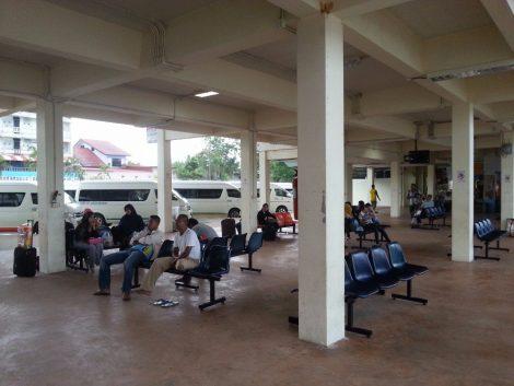 Platforms at Sungai Kolok Bus Terminal