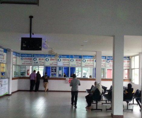 Ticket counters at Sungai Kolok Bus Terminal