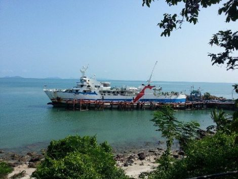 Raja Car Ferry ready to depart from Donsak to Koh Phangan