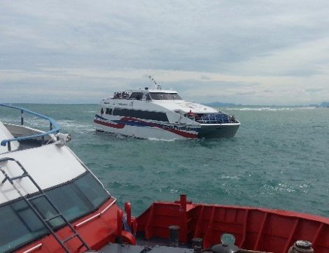 The Lomprayah High Speed catamaran is the fastest passenger ferry operating the Gulf of Thailand