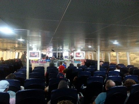 Air-conditioned cabin in a Lomprayah High Speed Ferry