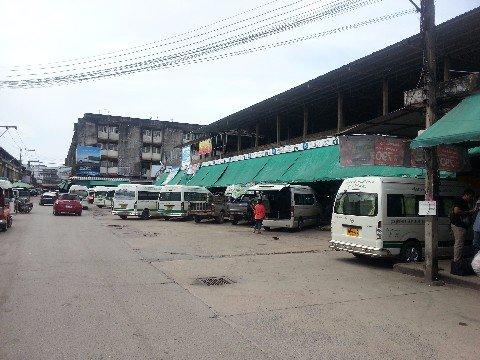 Talad Kaset 2 Bus Station in Surat Thani city