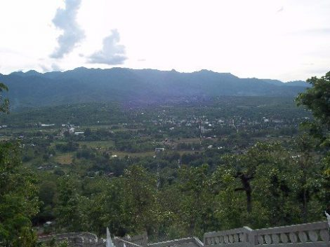 The View from the Temple of the Hill in Pai