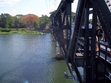 The famous bridge over the River Kwai in Kanchanaburi