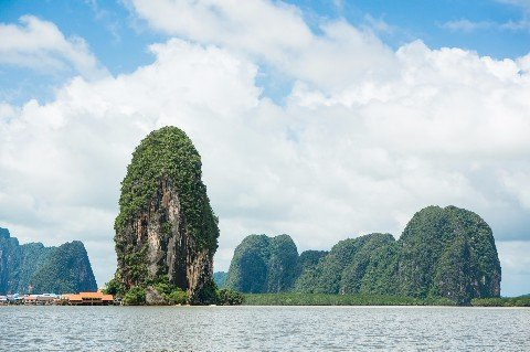 Phang Nga bay limestone cliffs
