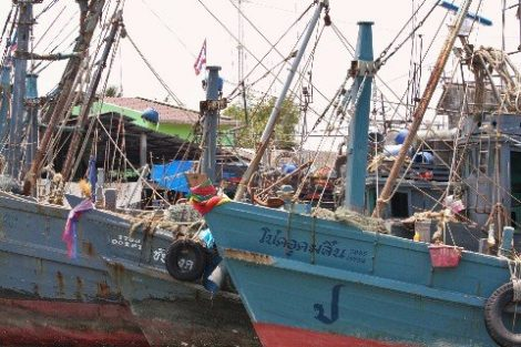 Ranong has a busy fishing port