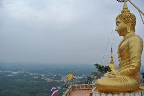 View from the Tiger Cave Temple near Krabi town