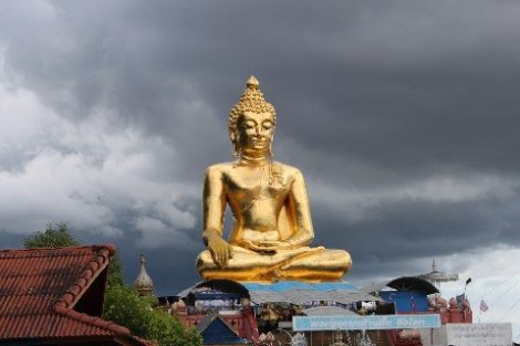 Buddha statute at the Golden Triangle near Chiang Khong