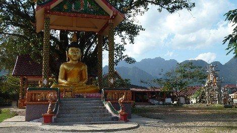 Buddhist monastery in Vang Vieng