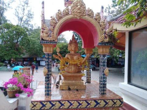 Four faced Buddha at Wat Phra Yai in Koh Samui