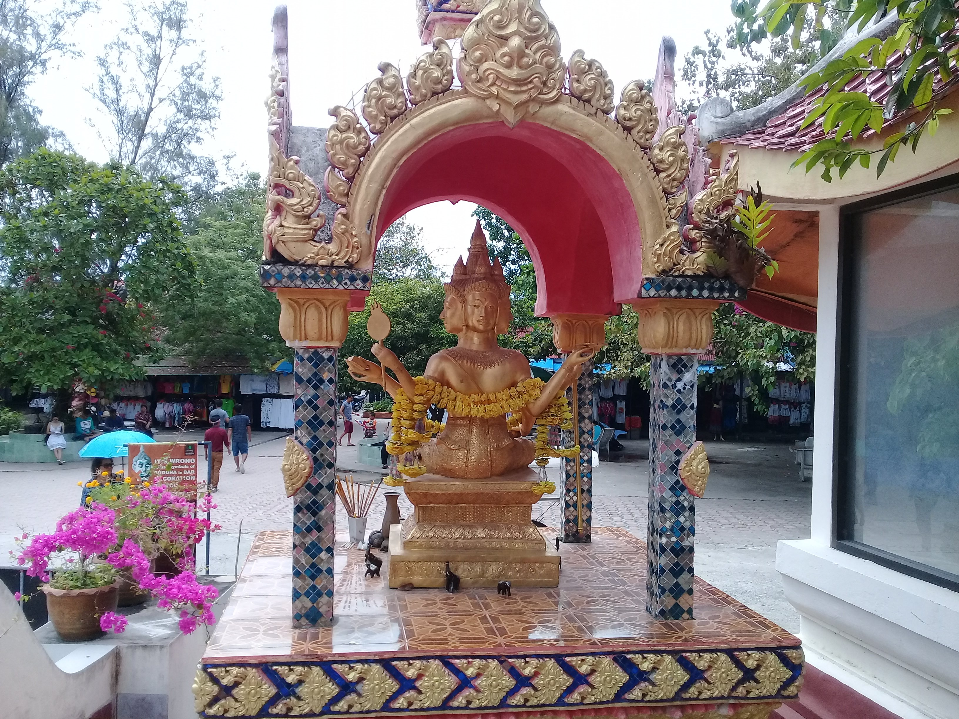 Four faced Buddha at Wat Phra Yai in Koh Samui