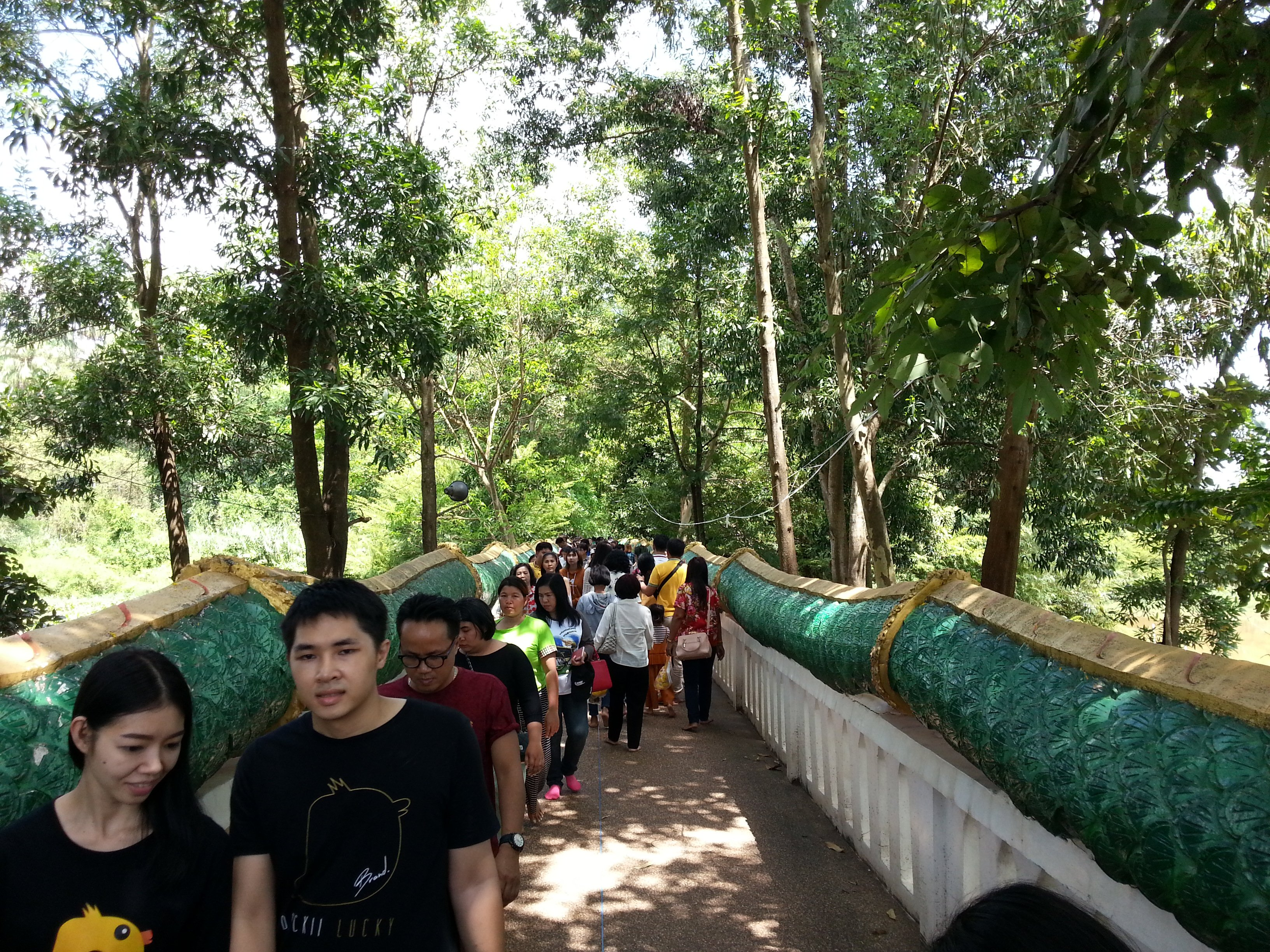Naga bridge to Wat Kham Chanot Forest