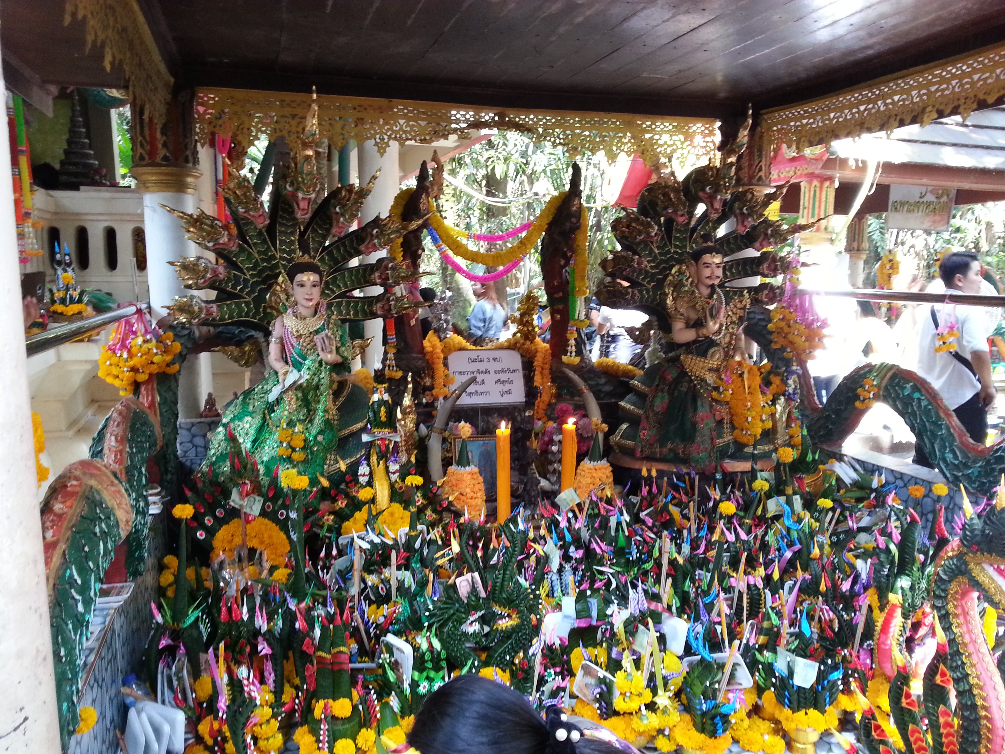 Shrine to Grandpa Naga Pu Si Suttho and Grandma Naga Si Pathumma