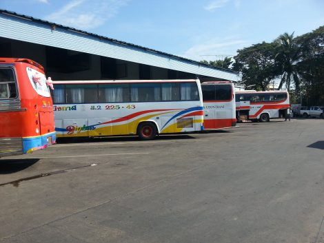 Bus services at Udon Thani Bus Terminal 1