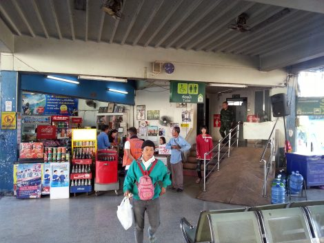 Shop and toilets at Udon Thani Bus Terminal 1