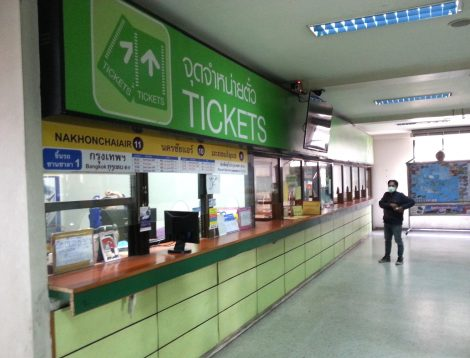 Ticket counters at Udon Thani Bus Terminal 1