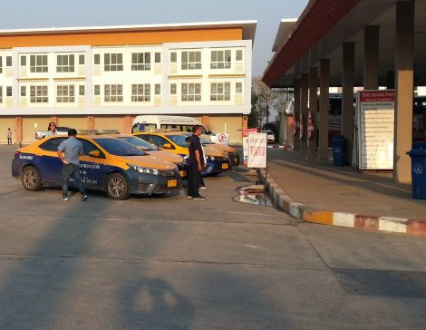 Meter taxis at Khon Kaen Bus Terminal 3