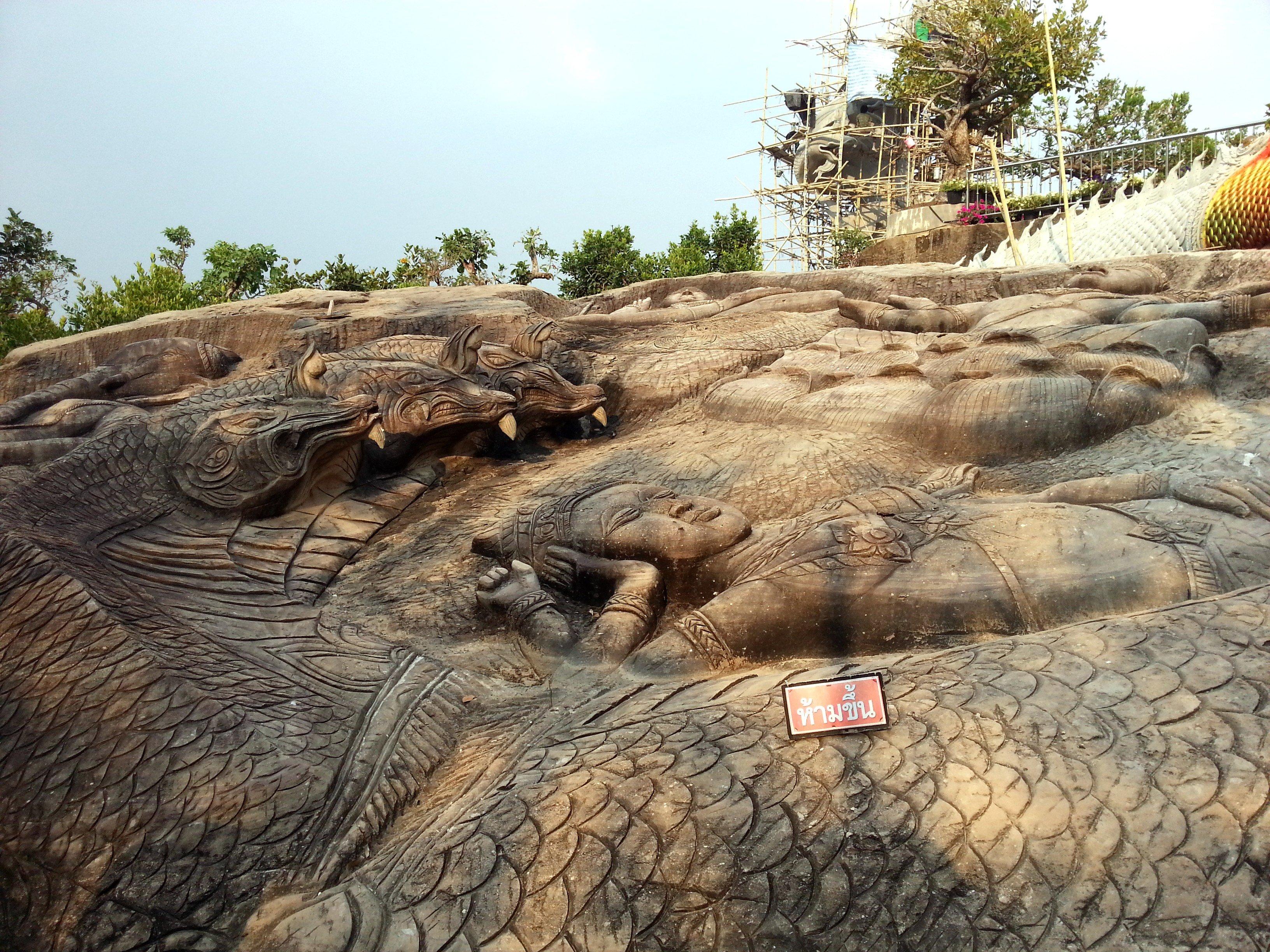 Rock carvings at Wat Tham Pha Daen