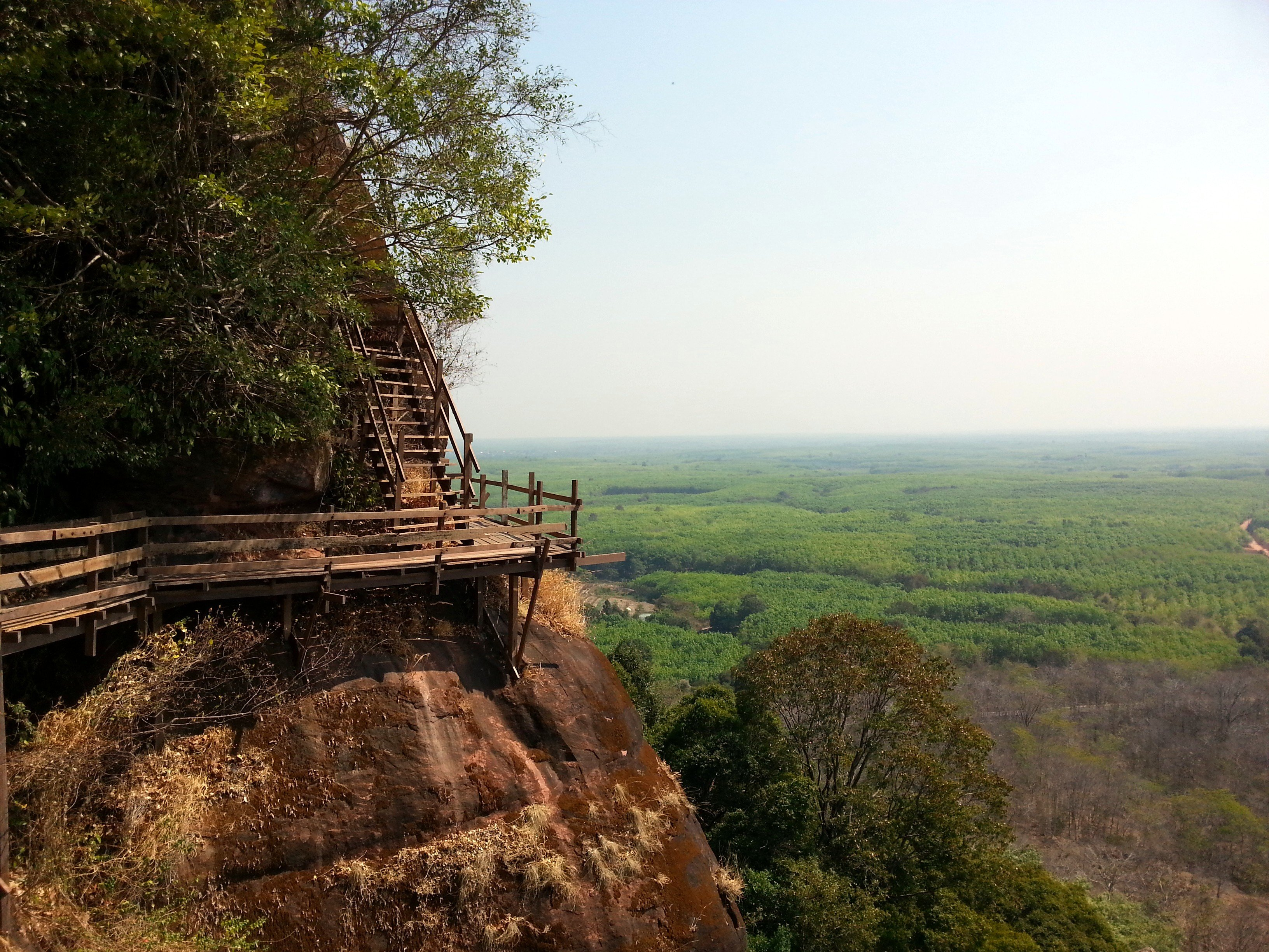 Stairs up to level 6 of Phu Tok