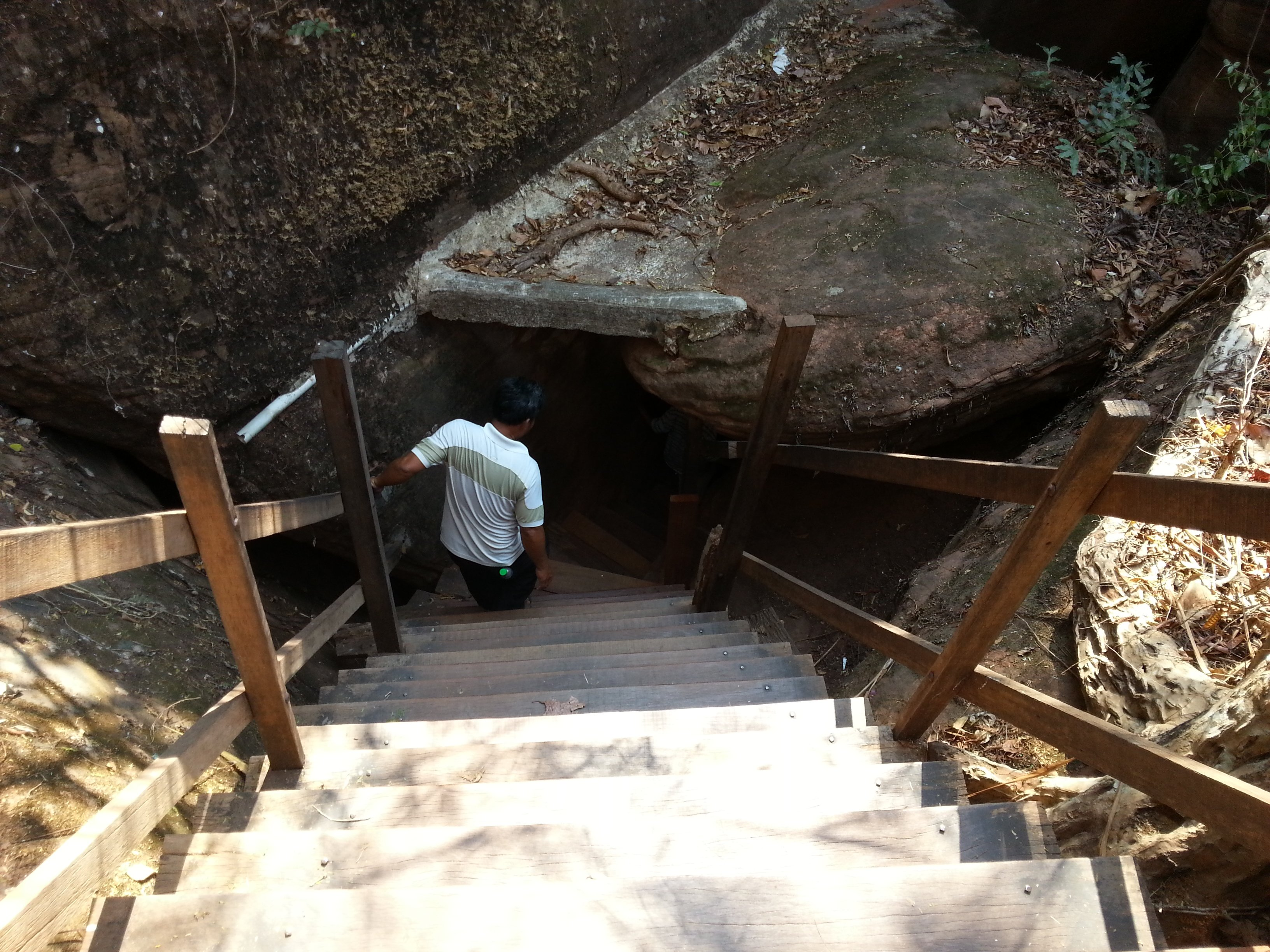Stairway from level 5 to level 4 passes through a cave