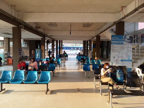 Waiting area at Khon Kaen Bus Terminal 3