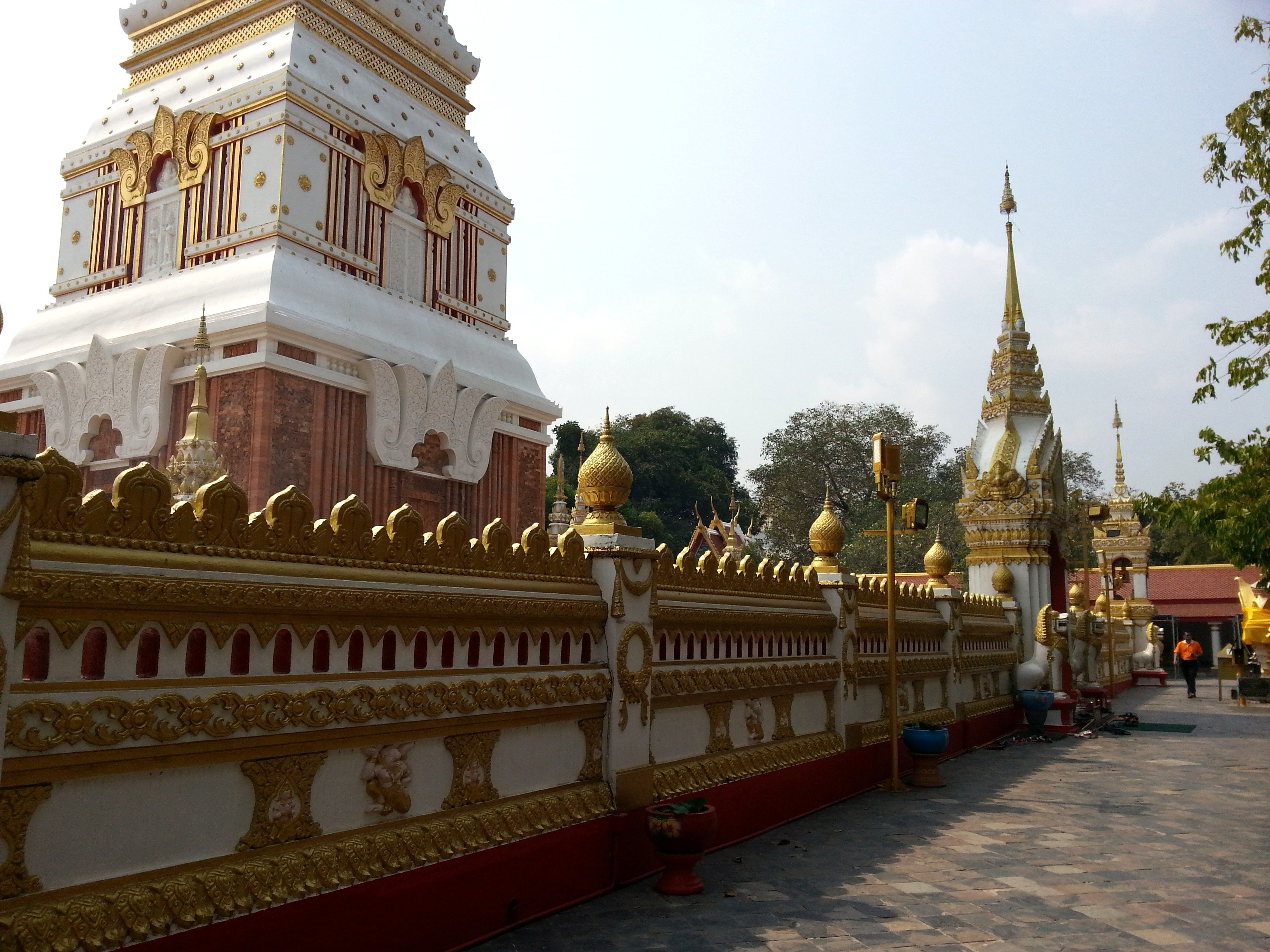 Wall around the chedi at Wat Phra That Phanom