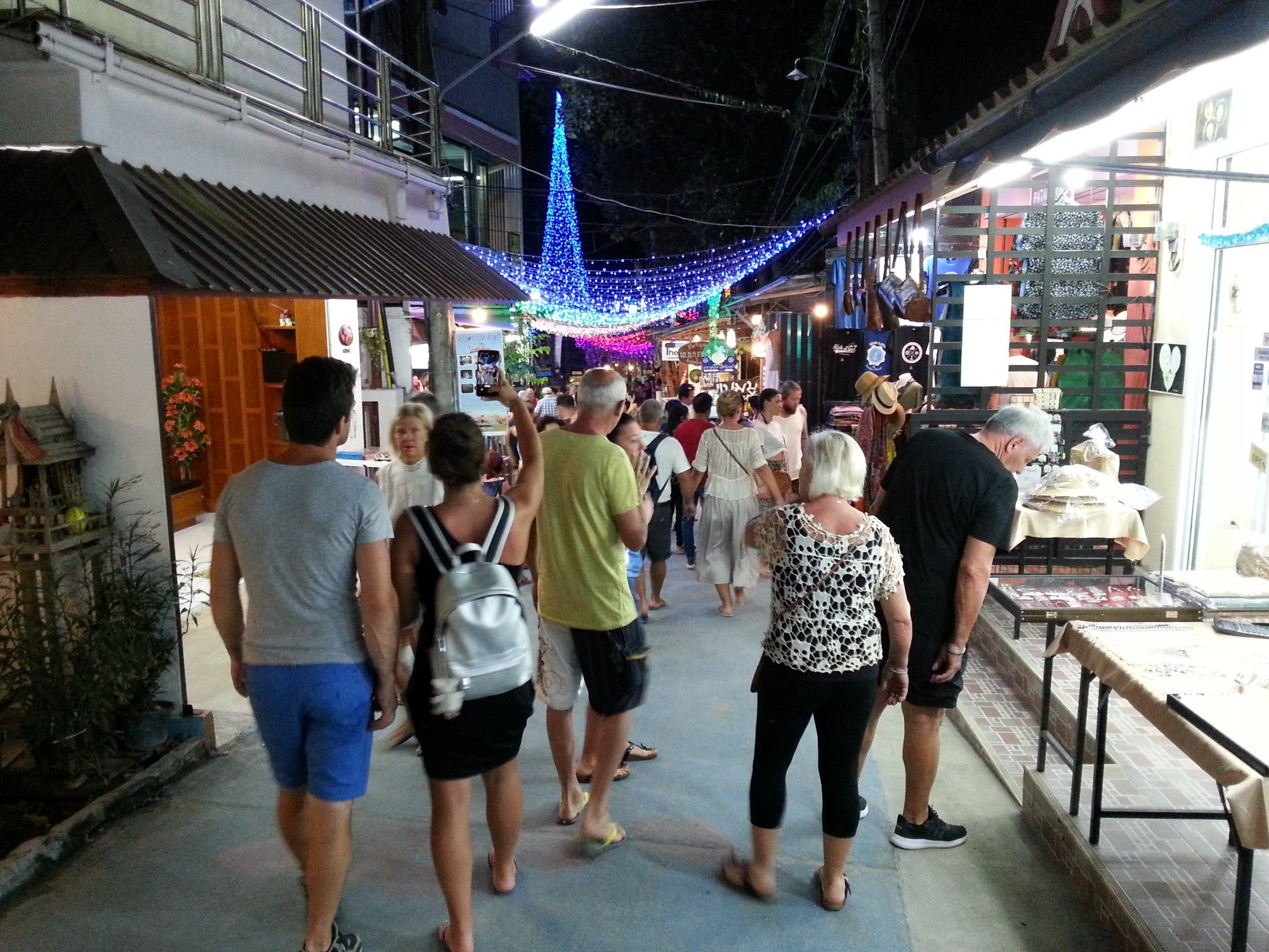 Koh Lipe Walking Street at night